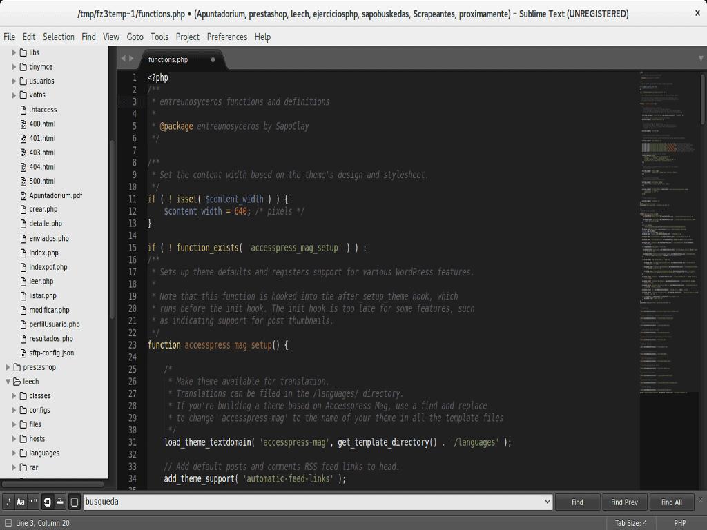 Breve explicación sobre el archivo functions de WordPress