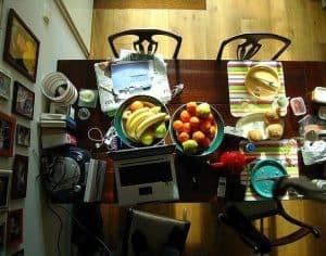 familia y trabajo en casa