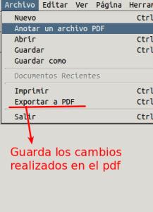 Xournal Guardar Archivo