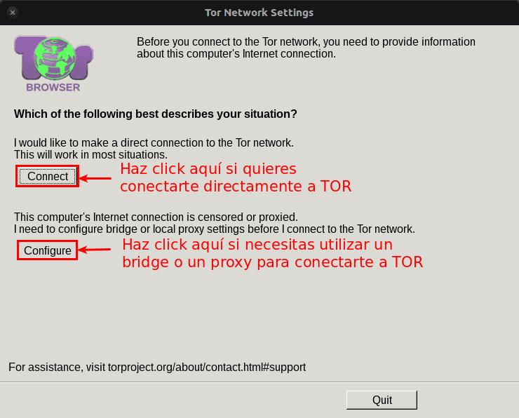 Configuración TOR