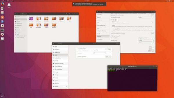 default ubuntu gnome desktop