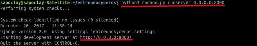 Django iniciando servidor