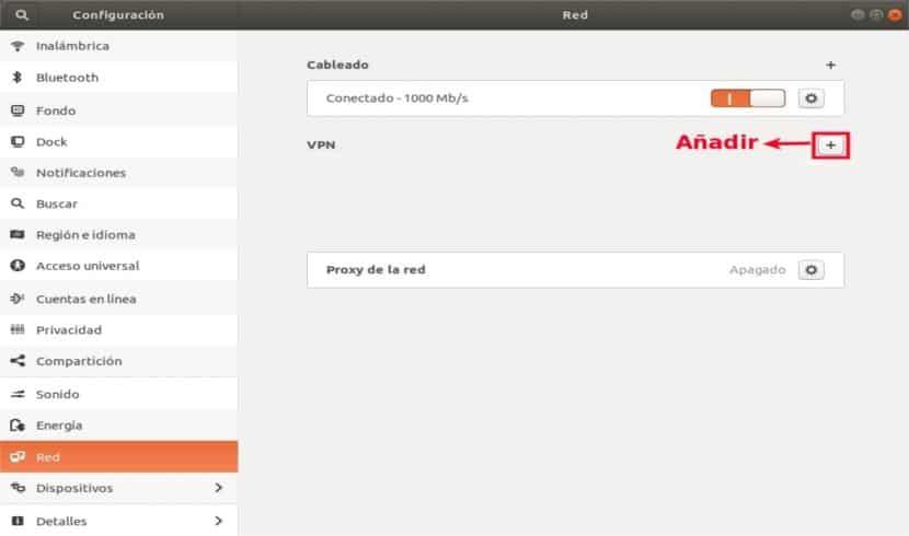 Añador VPN Ubuntu