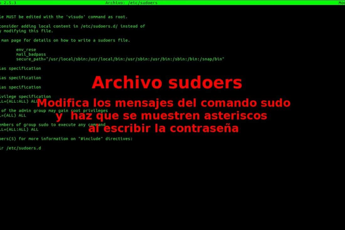 about archivo sudoers