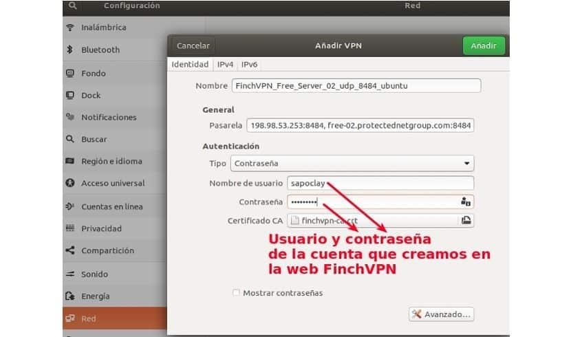 Configuración VPN Ubuntu