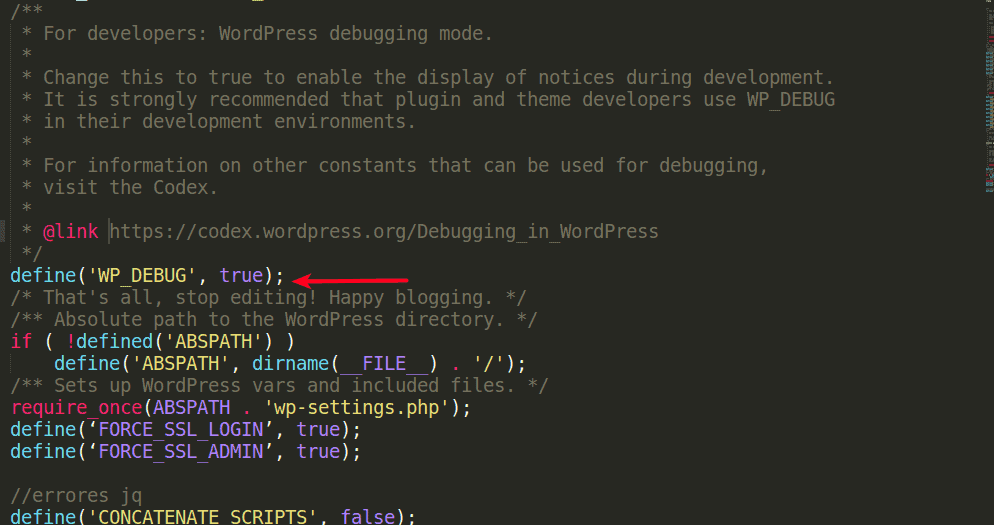 debug_wp true