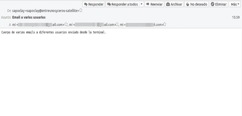 mail de correo a destinatarios múltiples recibido