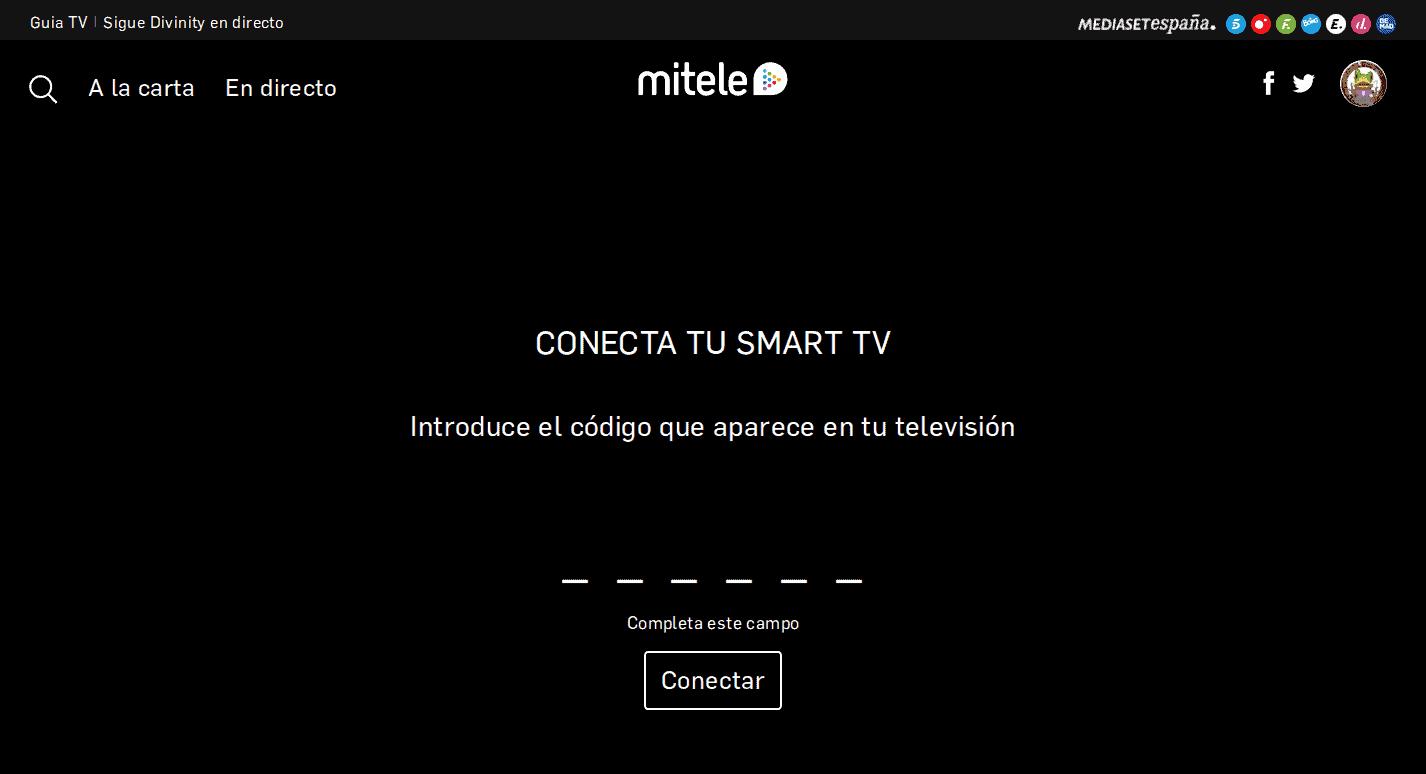 conecta tu smart tv a mitele para evitar los errores de mitele