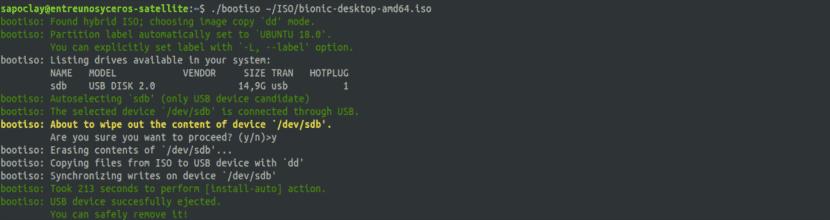 Bootiso, creando un usb arrancable de una ISO Ubuntu