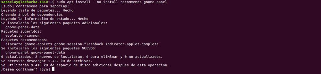 Gnome Panel Install
