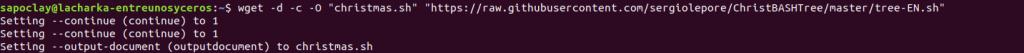 descargar el árbol de navidad animado desde GitHub