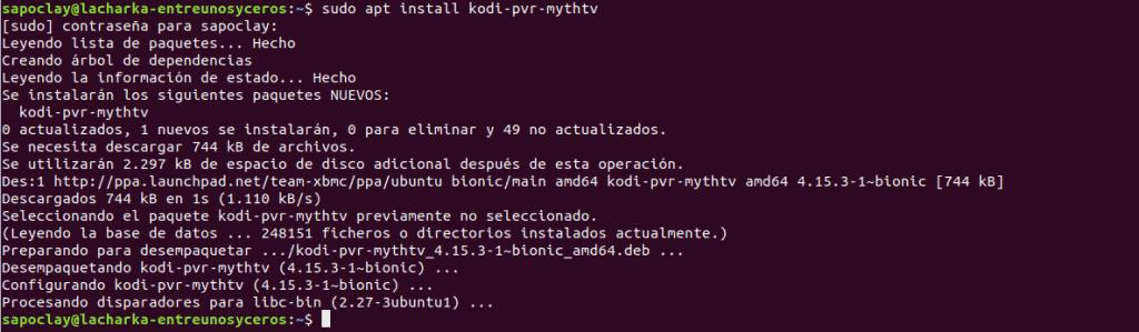 instalacion PVR Mythtv en Ubuntu