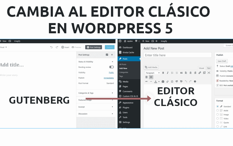 Editor Gutenberg, cómo deshabilitarlo y volver al editor clásico en WordPress
