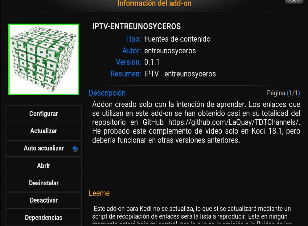 about entreunosyceros IPTV TDT