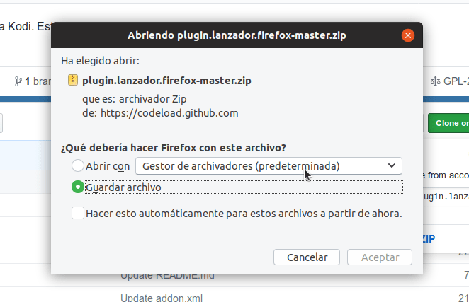 archivo descarga plugin video firefox