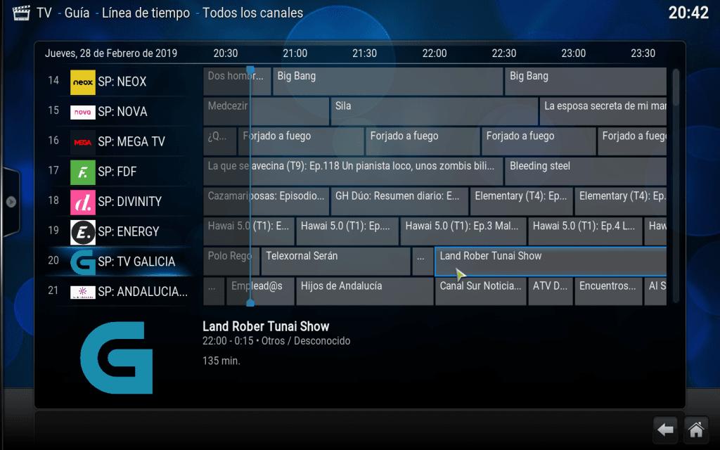 guía EPG de TDT Spain