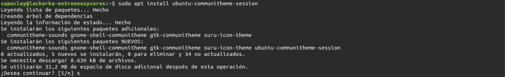 install Ubuntu communitheme