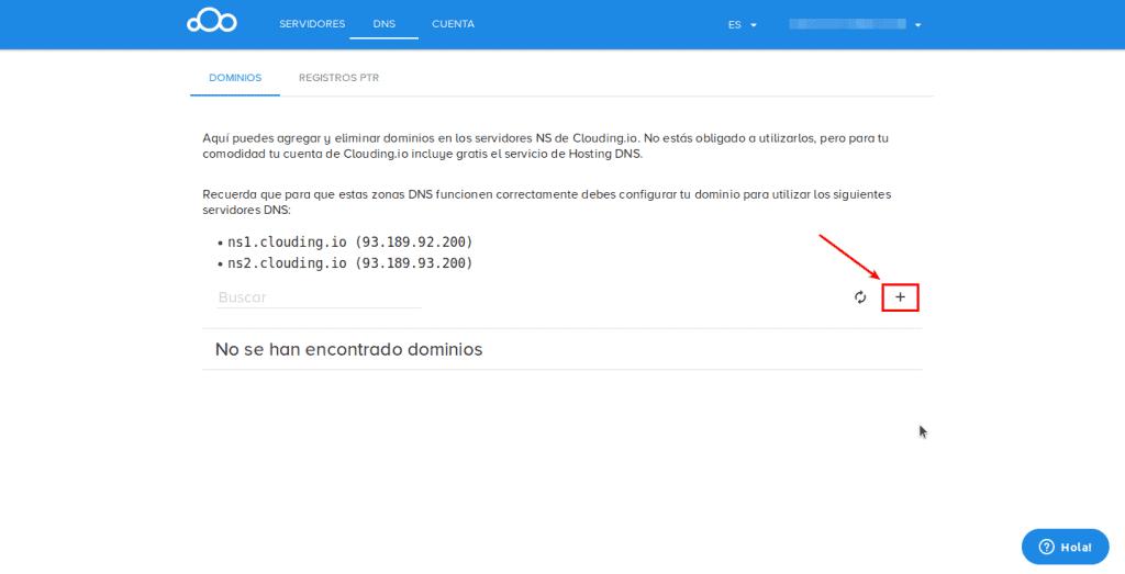 add dominio clouding.io
