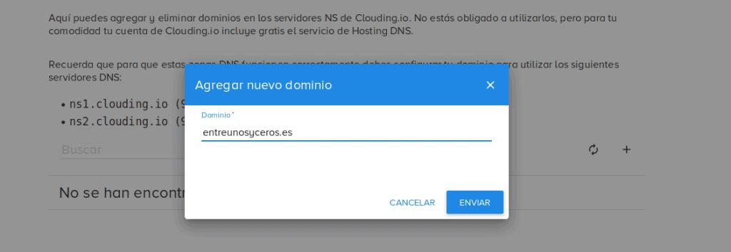 escribir nuevo dominio clouding.io
