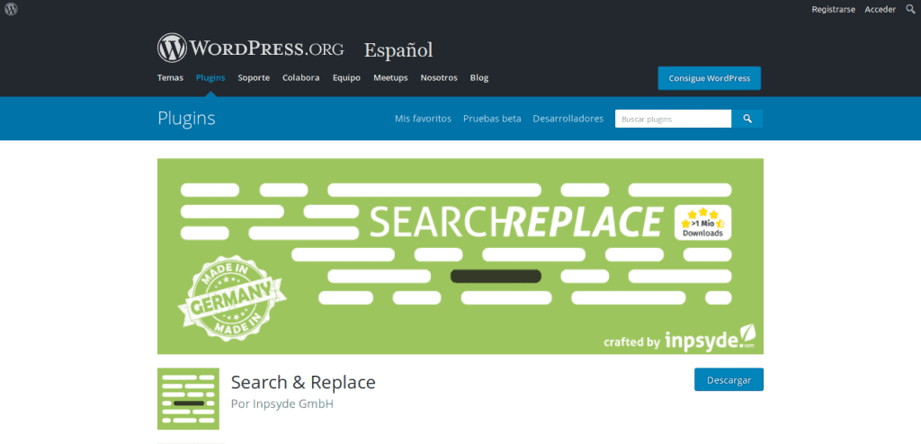 plugin wordpress search and replace