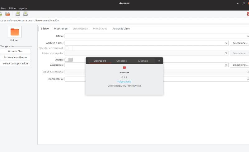 Arronax, una herramienta gráfica para crear archivos .desktop