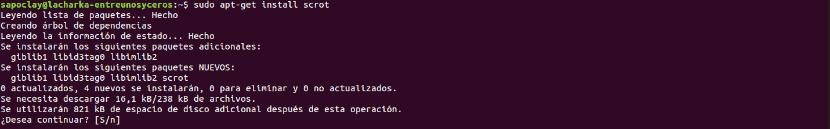 instalar scrot en Ubuntu
