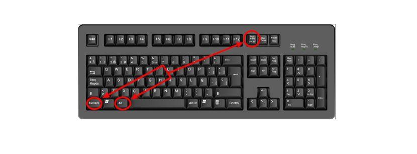 atajo de teclado Ctrl+alt+imprimir pantalla