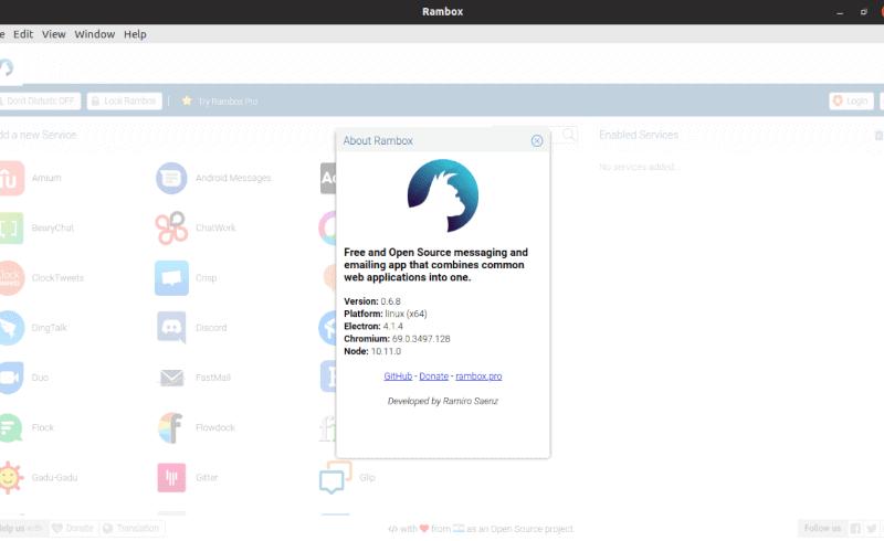 Rambox, instala esta aplicación de 'todo en uno' en Ubuntu 19.04