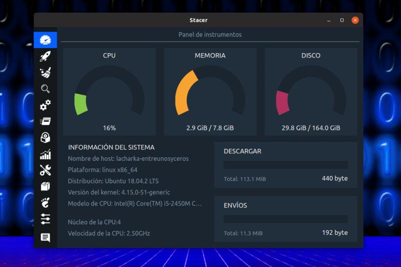 Stacer, un optimizador de sistema y monitorización para Ubuntu