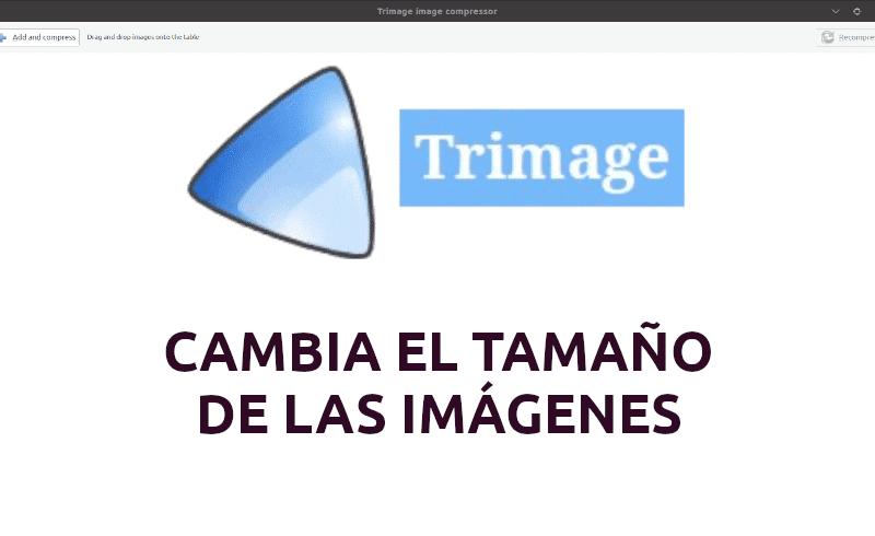 Trimage, una interfaz para cambiar el tamaño de las imágenes