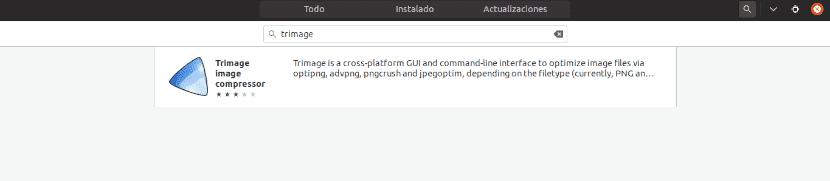 búsqueda trimage en centro software ubuntu