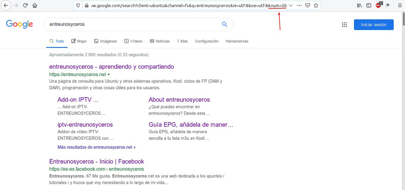 método alternativo a la búsqeuda en Google