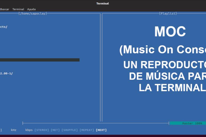 MOC (Music On Console), un reproductor de música para la terminal