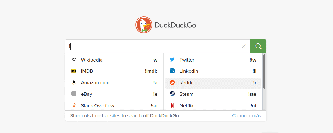 about duckduckgo bangs