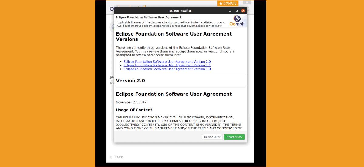 licencia de eclipse