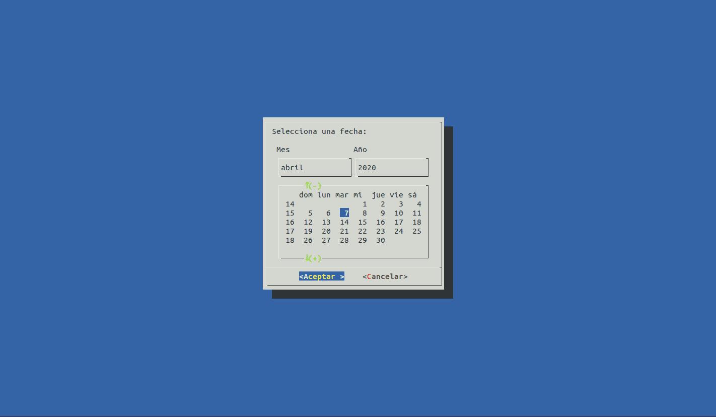 calendario con dialog