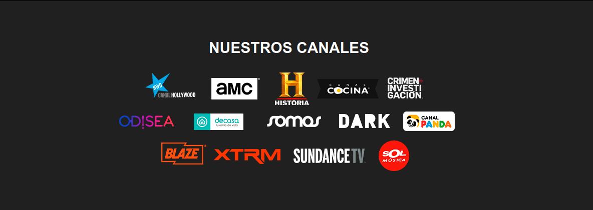 canales disponibles en microcanales.com