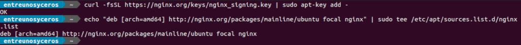 add repositorio nginx