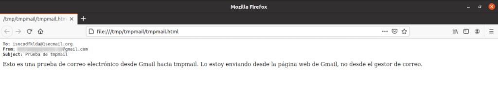 verificación del correo electrónico desde firefox