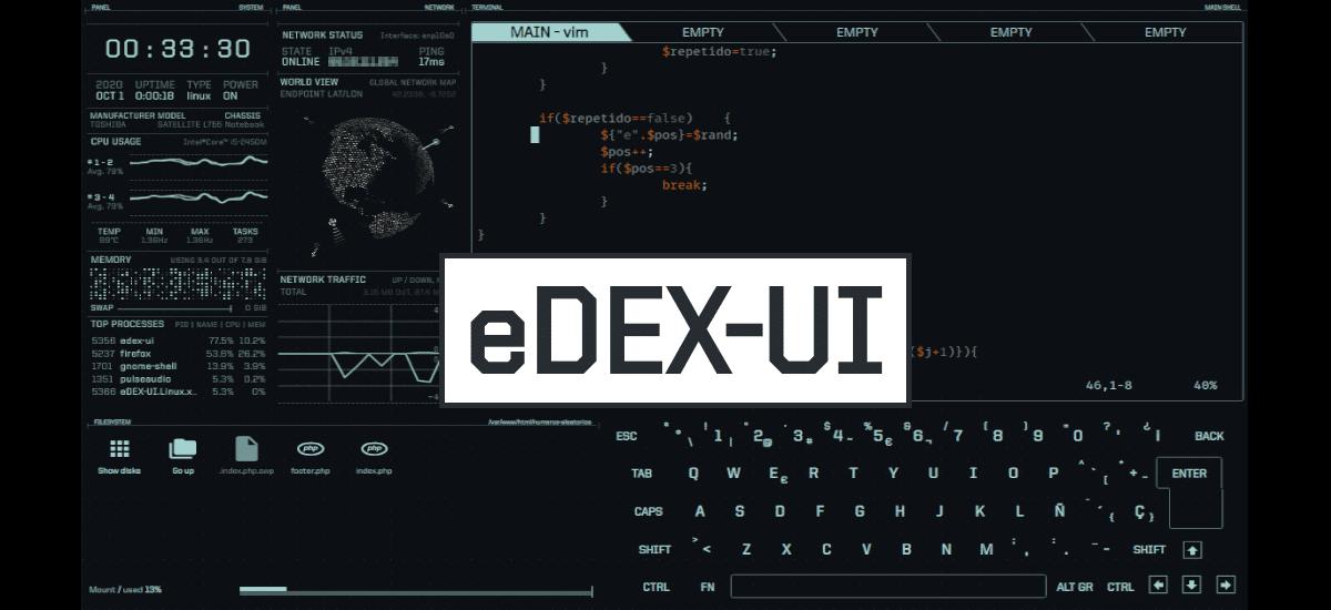 EDEX-UI, un emulador de terminal diferente para Ubuntu